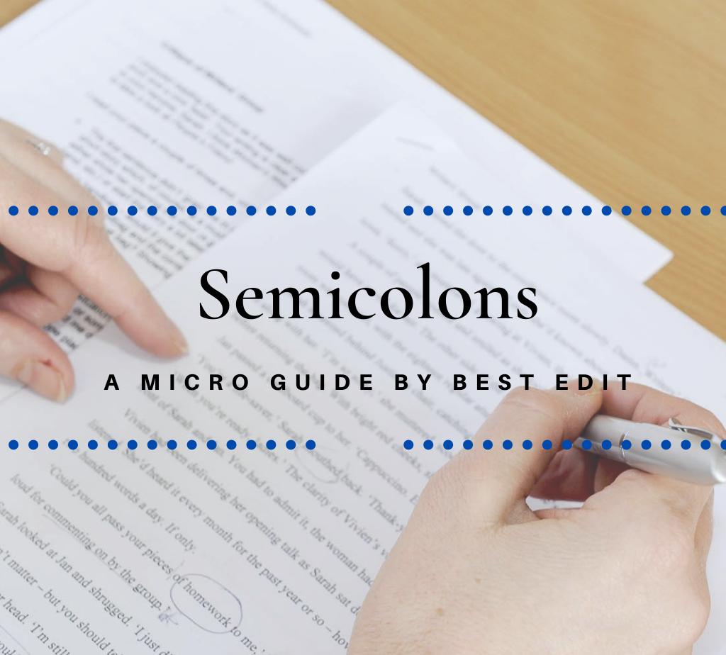 Semicolon guide